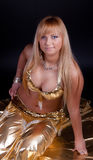 Image of belly dancer Stock Images