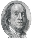 Image Benjamin Franklin. Graphic arts handmade; pencil. paper stock illustration