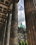 Image of the Berlin Cathedral from the old museum Royalty Free Stock Photo