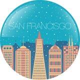 San Francisco City Skyline Silhouettes Set Royalty Free