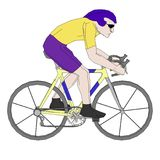 Image of biker on bike Royalty Free Stock Photo
