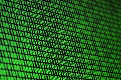 An image of a binary code made up of a set of green digits on a black background vector illustration