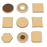 Image of biscuit set Stock Image