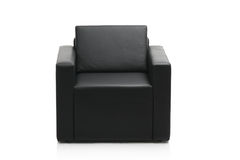 Image of a black armchair Royalty Free Stock Images
