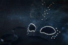 Image of black elegant venetian mask stock image