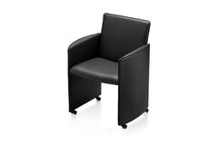 Image of a black leather armchair Royalty Free Stock Photography