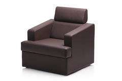 Image of a black leather armchair Royalty Free Stock Images