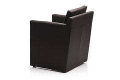 Image of a black leather armchair Stock Photo