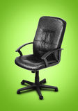 Image of black leather chair Royalty Free Stock Images