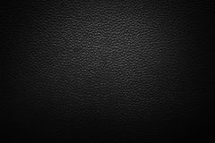 Image of black leather texture Stock Images