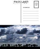 Image blanc vide de ciel de l'Afrique de descripteur de carte postale illustration stock