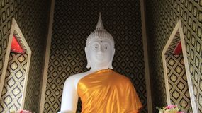 Image blanche de Buddhas Photographie stock