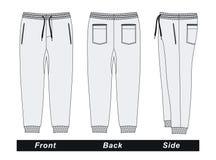 Image blanche de vecteur de pantalons du ` s d'hommes Images libres de droits