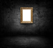 Image of blank artframe on concrete wall Stock Photography