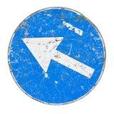 Image bleue de concept de signe de flèche image libre de droits