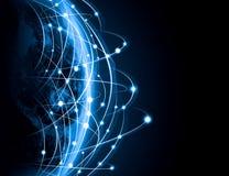 Image bleue de globe Images libres de droits