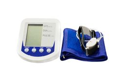 The image of blood pressure Stock Photos