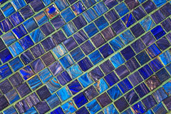 The image of a blue ceramic tile close up Royalty Free Stock Image