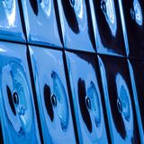 Image with blue ceramic tiles Stock Images