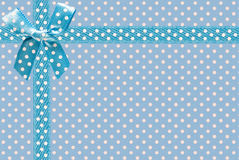 Image of blue fabric with bow close-up Royalty Free Stock Photography