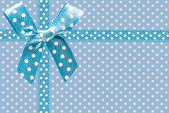 Image of blue fabric with bow close-up Royalty Free Stock Photo