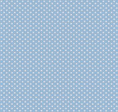 Image of blue fabric with white polka dots close-up Stock Photography
