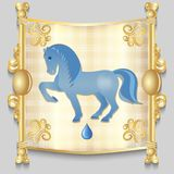 Image of a blue horse Royalty Free Stock Photography