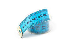 Image blue measuring tape in a box Royalty Free Stock Photos