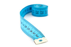 Image blue measuring tape Royalty Free Stock Image