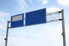 Image of blue road sign Royalty Free Stock Image