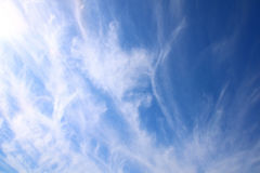 Image of blue sky with clouds Royalty Free Stock Photography