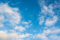 Image of blue sky and white cloud. Stock Photo