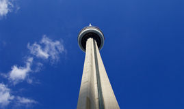 Image with blue sky, white clouds and CN Tower Stock Photography