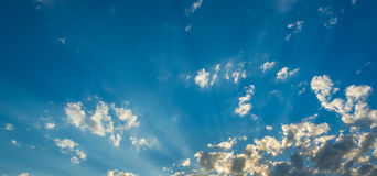 Image of blue sky and white clouds on day time . Royalty Free Stock Photography