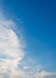 Image of  blue sky and white clouds on day time . Stock Photography