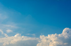 Image of  blue sky and white clouds on day time . Royalty Free Stock Image