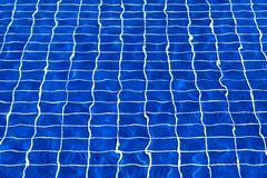 Blue Swimming Pool Water Surface Texture for Background stock photography