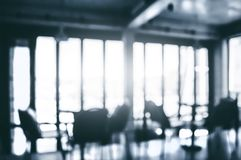 Image of blurred office room with sun light.  stock photo