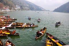 Boat club, Nainital. This is an image of Boat Club at Nainital, India. A popular tourist destination of North India Stock Photography