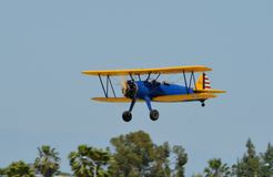Boeing Stearman PT-17 taking off royalty free stock photos