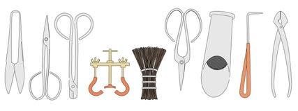 Image of bonsai tools Stock Photos