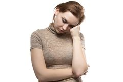 Image of bored woman Royalty Free Stock Image