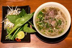 Pho, A Popular Vietnamese Beef Noodle Soup stock photos