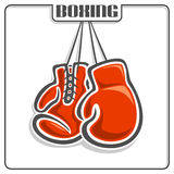 The image of boxing gloves Stock Photography