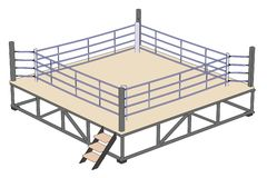 Image of boxing ring. Cartoon image of boxing ring Royalty Free Stock Photos