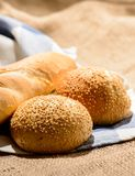 Image of bread loaf and buns Royalty Free Stock Photos