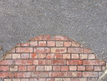 Bricks and concrete wall texture royalty free stock photography