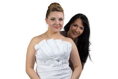Image of bride and bridesmaid Royalty Free Stock Images