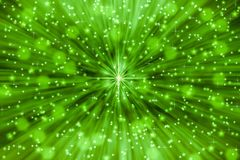 Stars and Sparkles in Green Background vector illustration