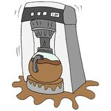 Broken coffee maker. An image of a broken coffee maker vector illustration